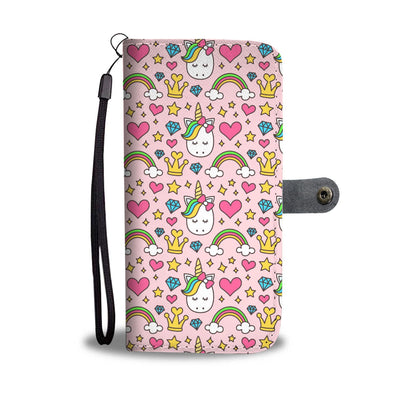 Diamond Unicorn Phone Case Wallet Wallet Case