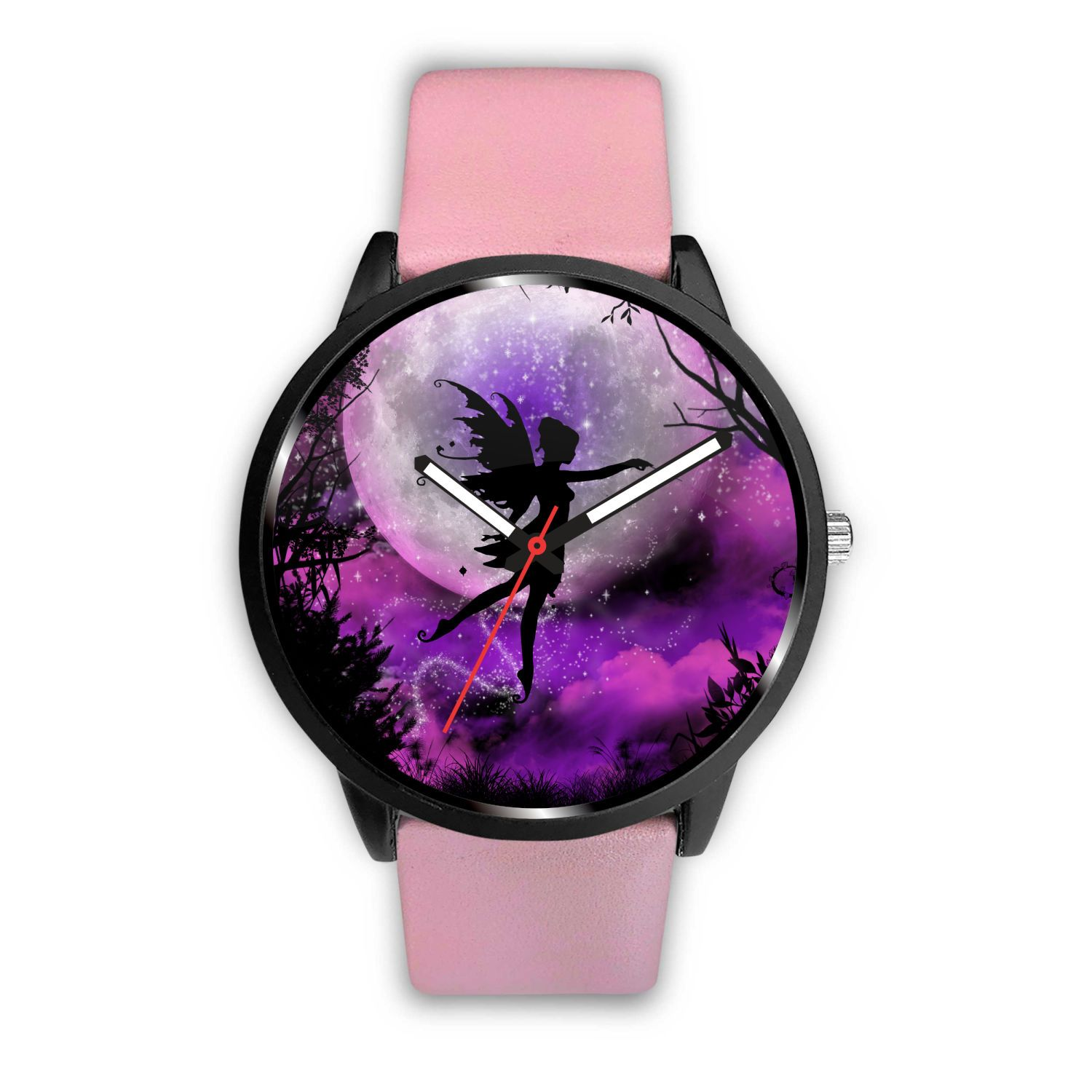 Fairy Moon Watch Watch Mens 40mm Pink