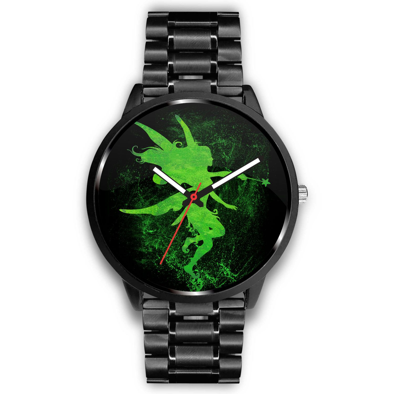 Fairy Art Watch Watch Mens 40mm Metal Link