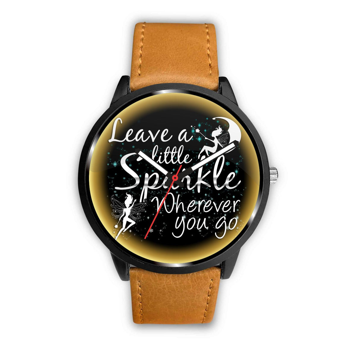 Leave A Little Sparkle Fairy Watch Watch Mens 40mm Brown