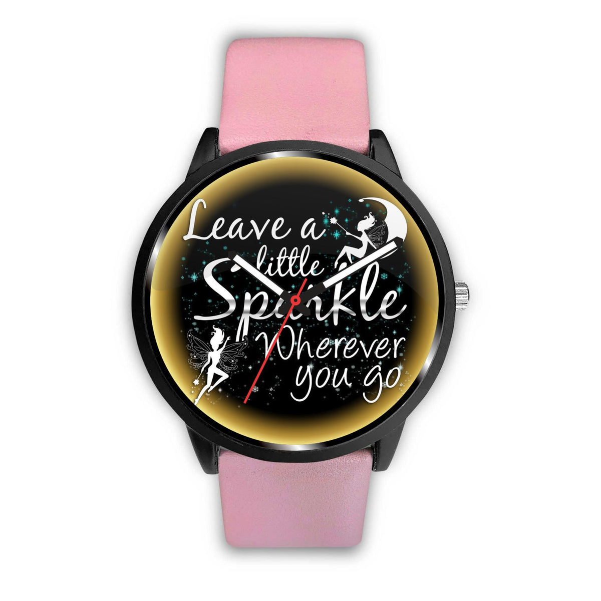 Leave A Little Sparkle Fairy Watch Watch Mens 40mm Pink