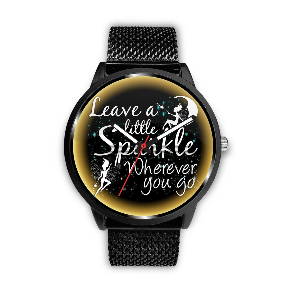 Leave A Little Sparkle Fairy Watch Watch Mens 40mm Metal Mesh