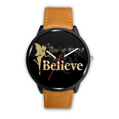 You've Got To Believe Fairy Watch Watch Mens 40mm Brown
