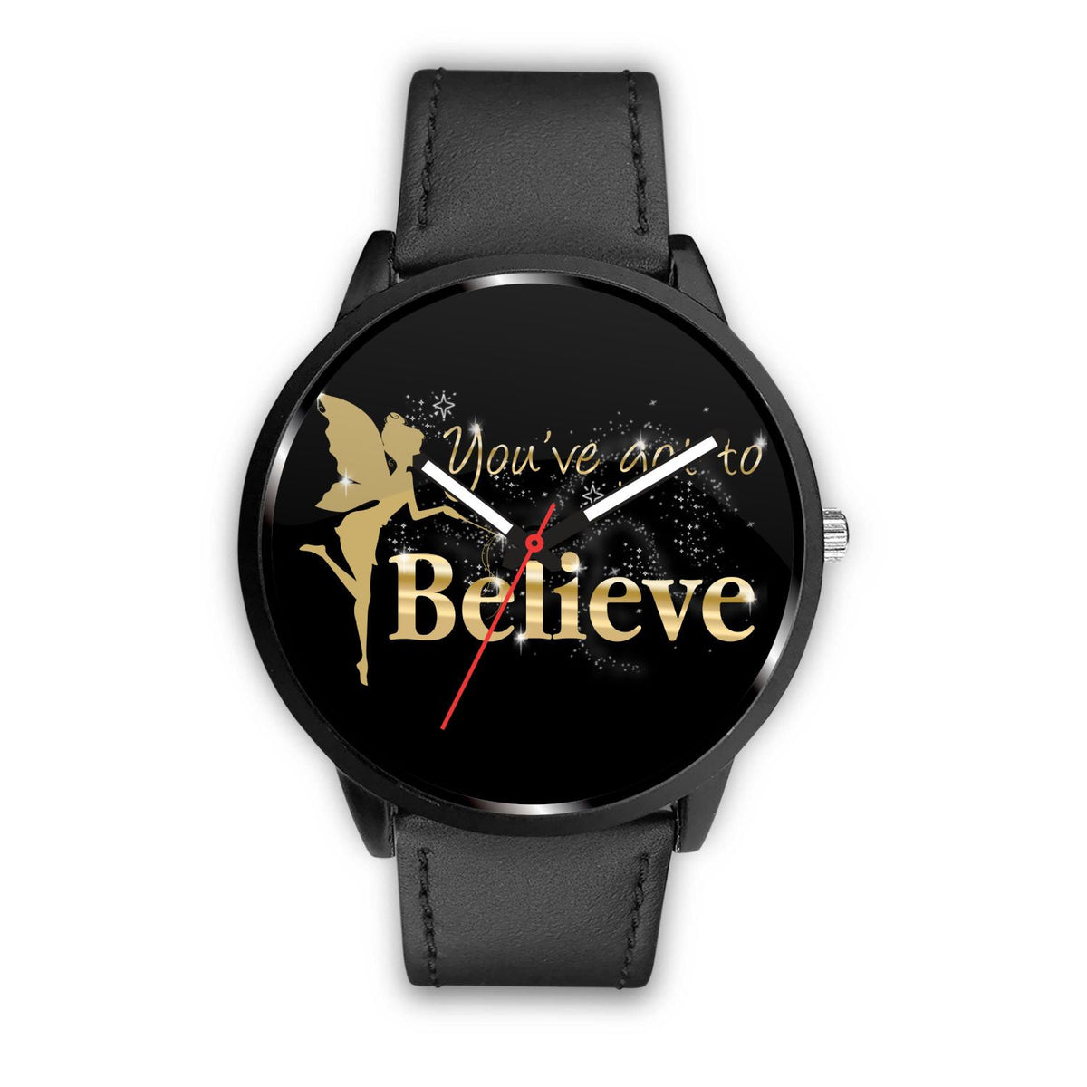 You've Got To Believe Fairy Watch Watch Mens 40mm Black