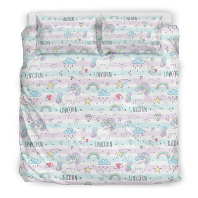 Sweet Unicorn Bed Set Bed Sets Bedding Set - Beige - Sweet Unicorn Bed Set US King