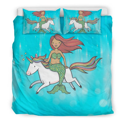 Mermaid Unicorn Bed Set Mermaid Bed Sets US King