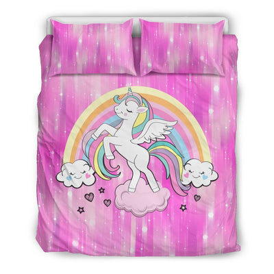 Heavenly Unicorn Bed Set Bed Sets Bedding Set - Black - Heavenly Unicorn Bed Set US Queen/Full