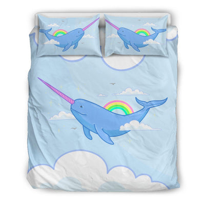 Narwhal Unicorn Bed Set Bed Sets US Queen/Full