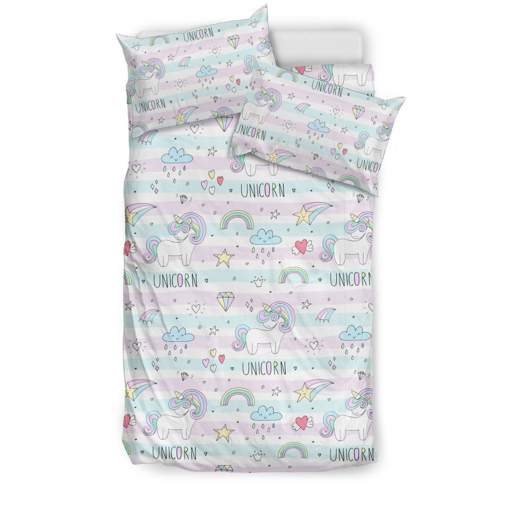 Sweet Unicorn Bed Set Bed Sets Bedding Set - Beige - Sweet Unicorn Bed Set US Twin