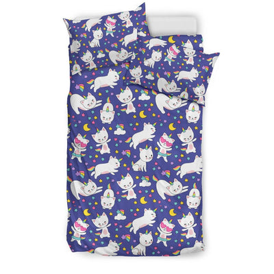 Kitty Cat Unicorn Bed Set Bed Sets Bedding Set - Black - Kitty Cat Unicorn Bed Set US Twin