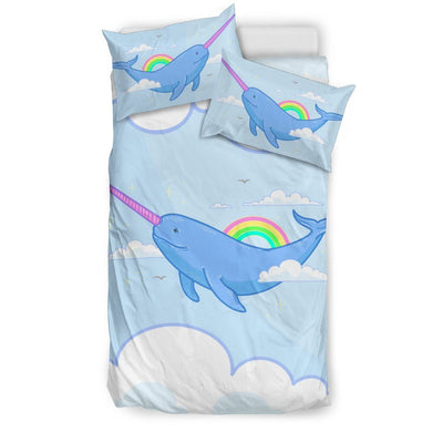 Narwhal Unicorn Bed Set Bed Sets US Twin