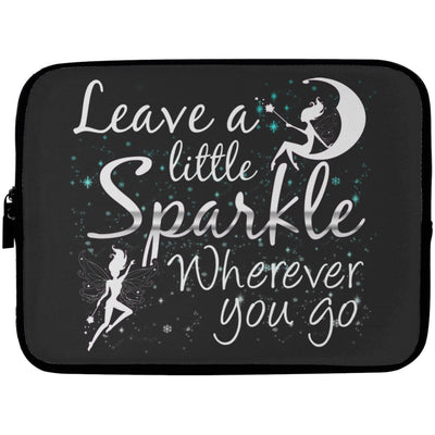 Leave A Little Sparkle Fairy Laptop Sleeve Apparel Laptop Sleeve - 10 inch Black One Size