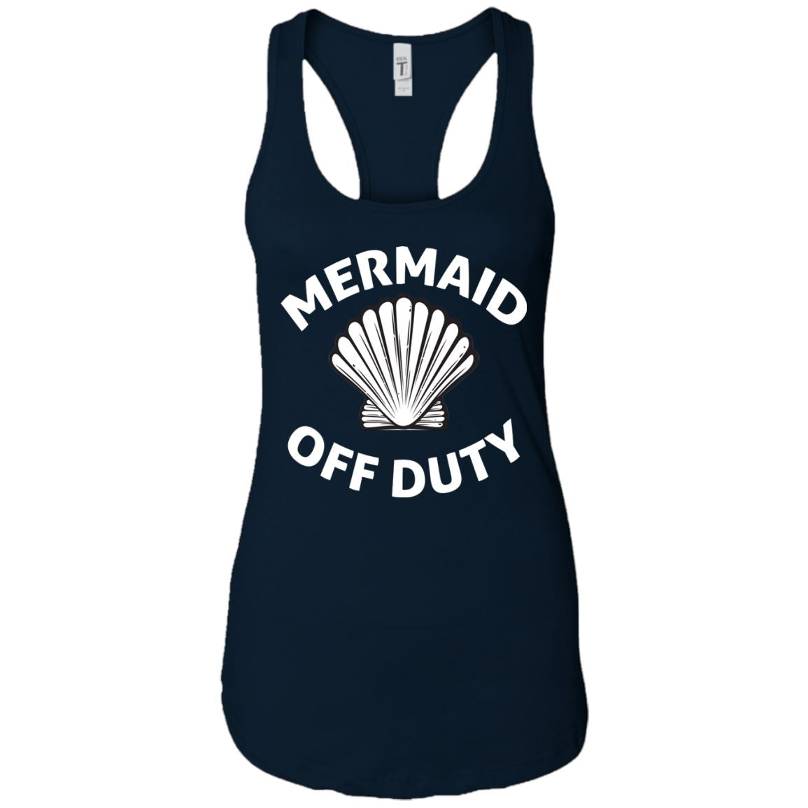 Mermaid Off Duty Ladies Racerback Tank Mermaid Apparel Midnight Navy X-Small