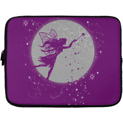 Fairy Moon Laptop Sleeve Apparel Laptop Sleeve - 13 inch Purple One Size