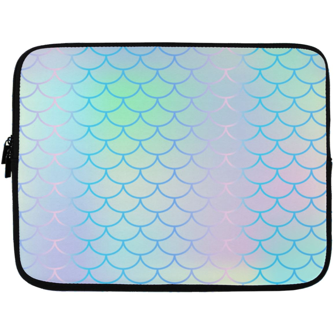 Iridescent Mermaid Laptop Sleeve Apparel Laptop Sleeve - 13 inch White One Size