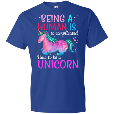Time To Be A Unicorn Youth T-Shirt Apparel Royal YXS