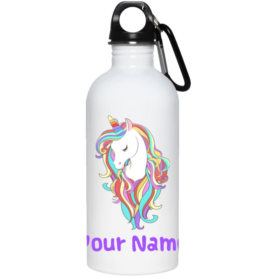 Personalized Magical Unicorn Stainless Steel Water Bottle Drinkware One Size