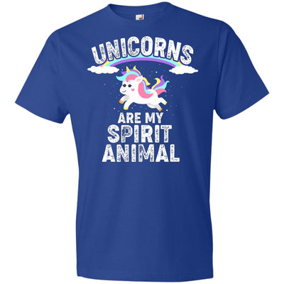 Unicorns Are My Spirit Animal Youth T-Shirt Apparel Royal YXS
