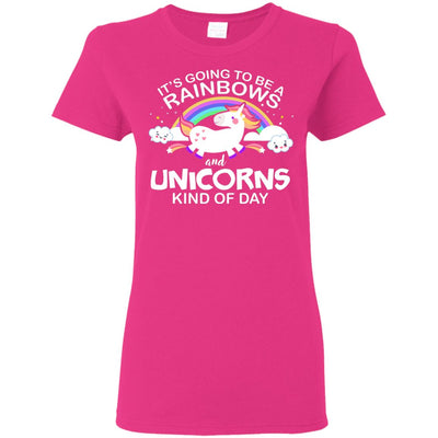 Unicorn & Rainbow Kind of Day Women's T-Shirt Apparel Heliconia S