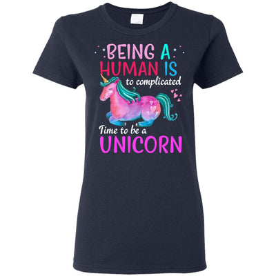Time To Be A Unicorn Women's T-Shirt Apparel Navy S
