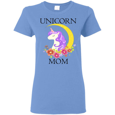 Unicorn Mom Ladies T-Shirt Apparel Carolina Blue S
