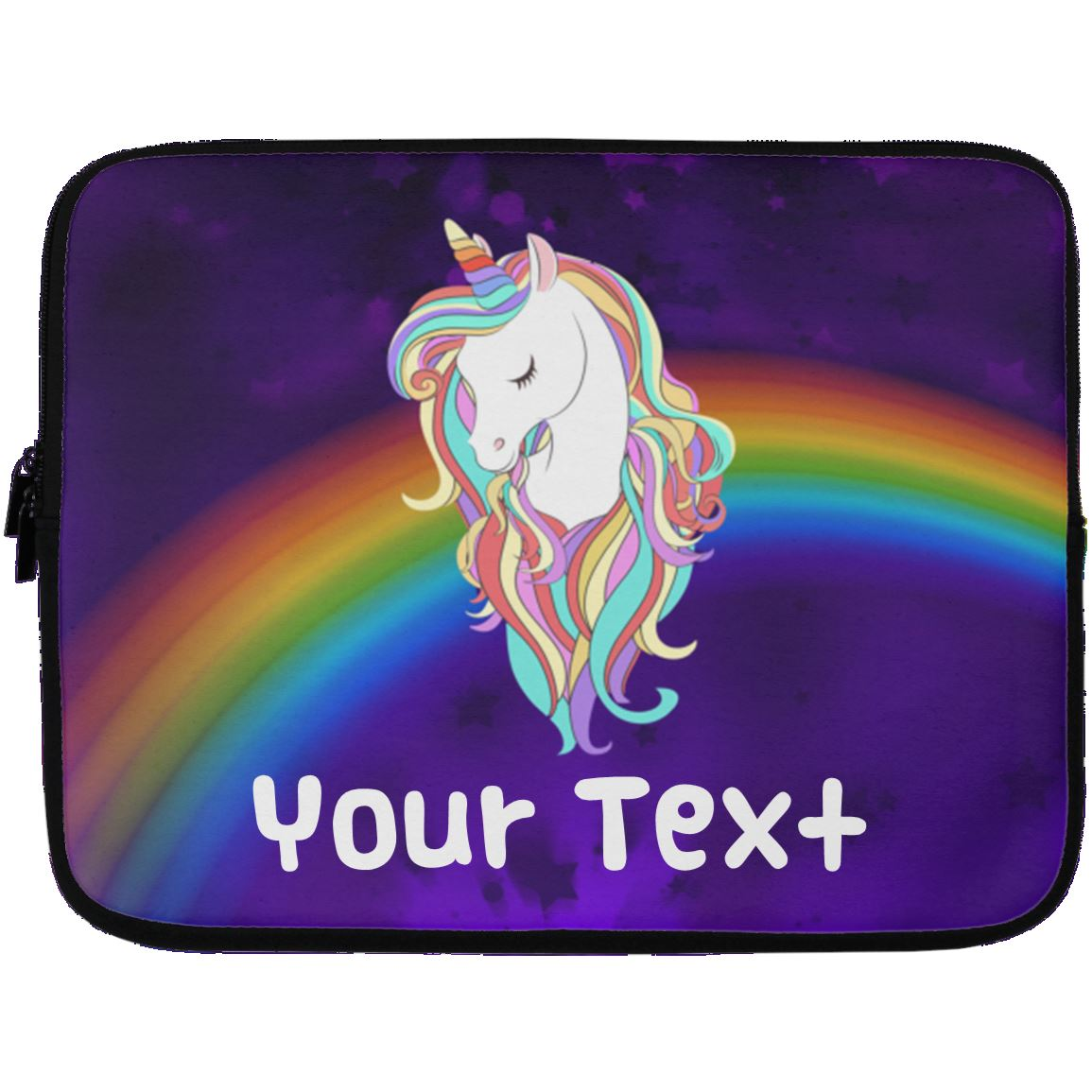 Personalized Magical Unicorn Laptop Case Sleeve Apparel 13 inch