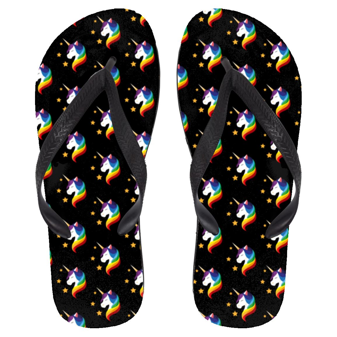 Unicorn Fantasy Flip FLops Apparel Large