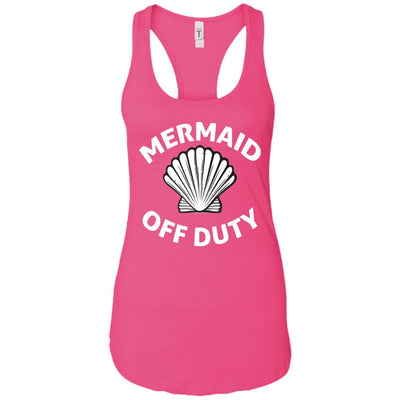 Mermaid Off Duty Ladies Racerback Tank Mermaid Apparel Raspberry X-Small