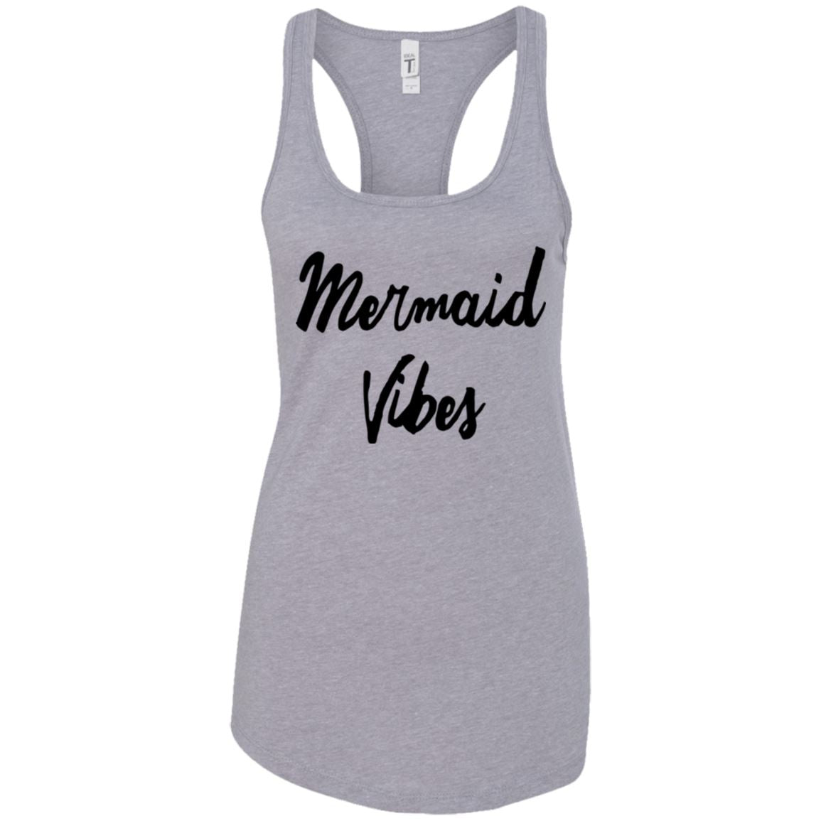 Mermaid Vibes Level Ladies Racerback Tank Mermaid Apparel Heather Grey X-Small