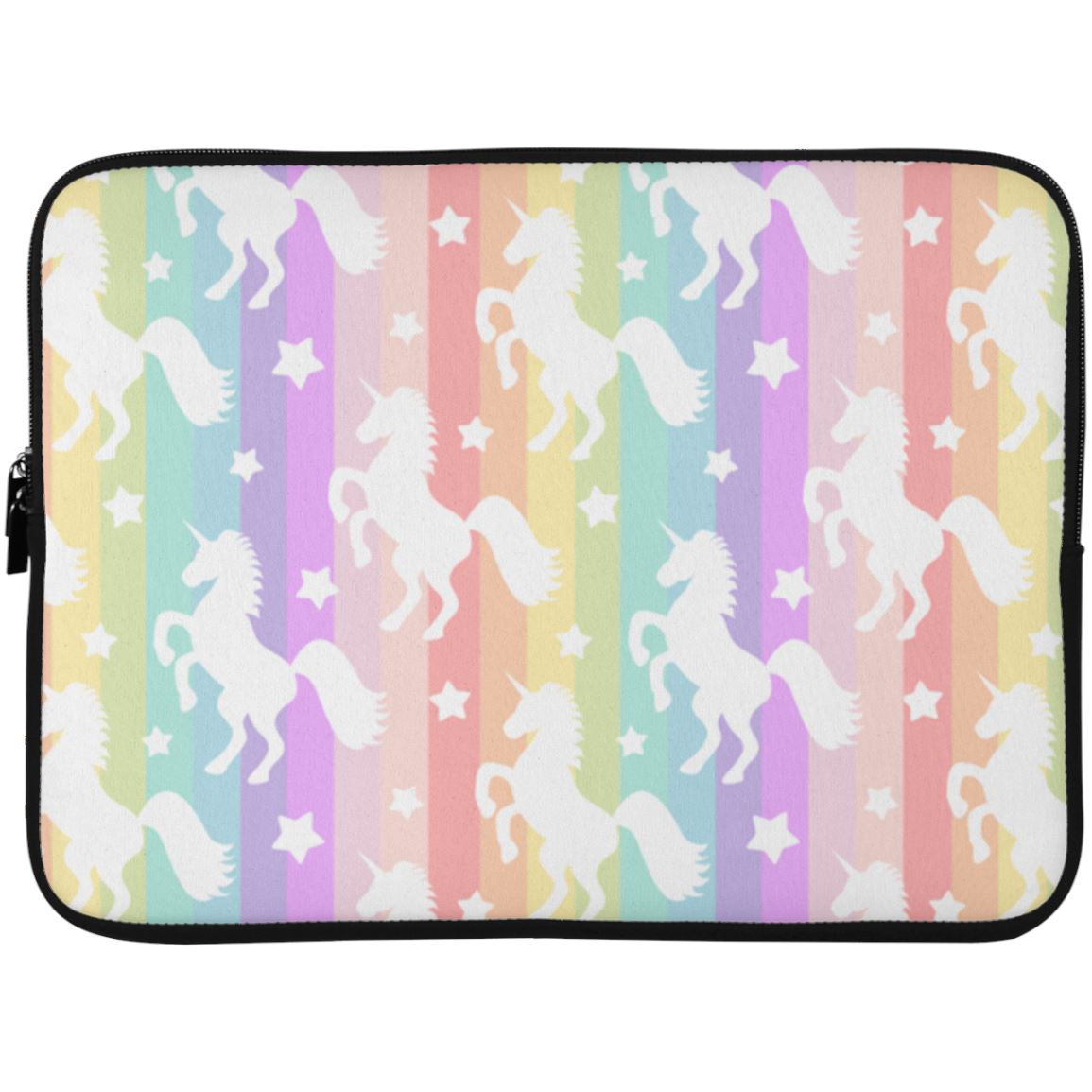 Unicorn Rainbows Laptop Sleeve Apparel Laptop Sleeve - 15 Inch White One Size