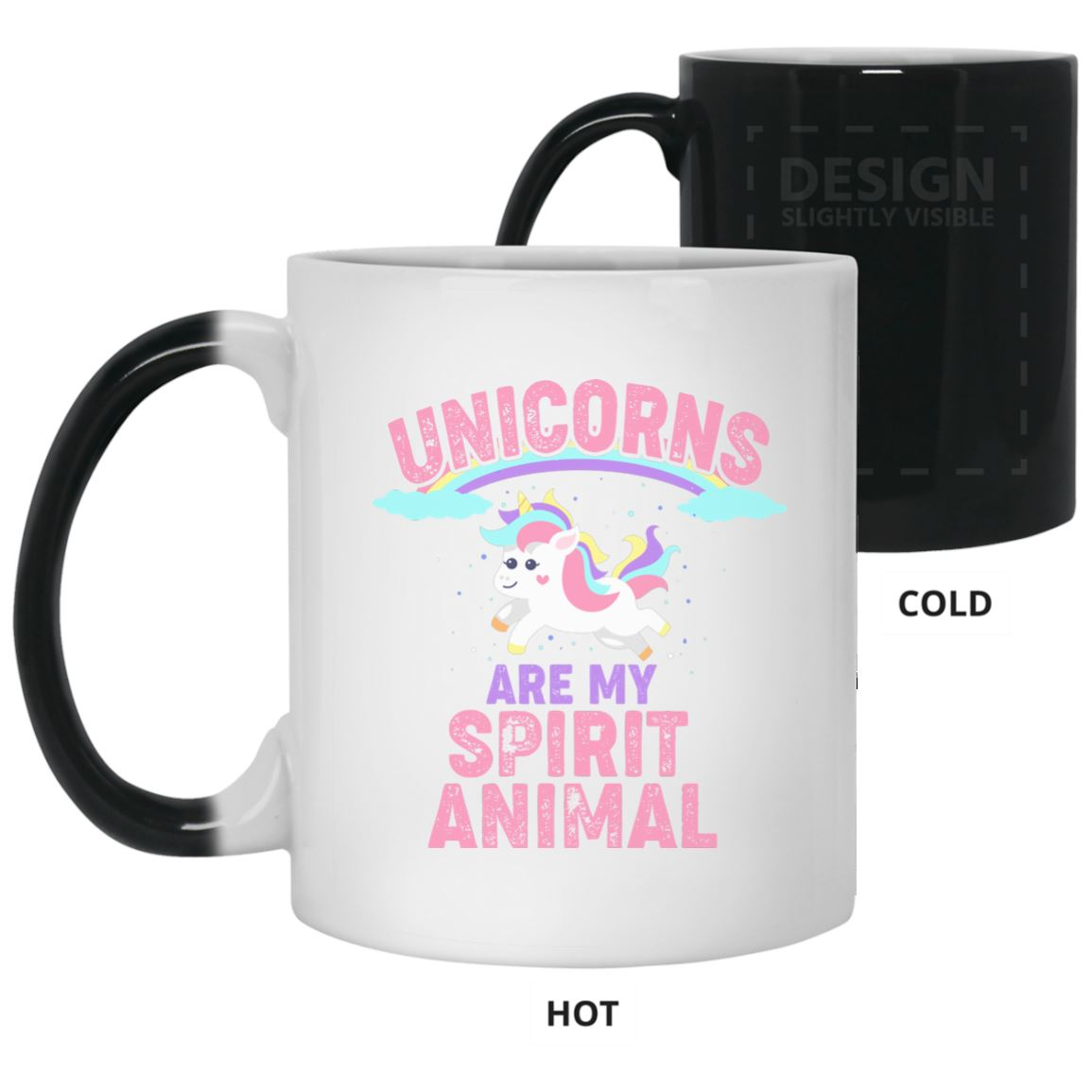Unicorns Are My Spirit Animal Color Changing Mug Drinkware White One Size