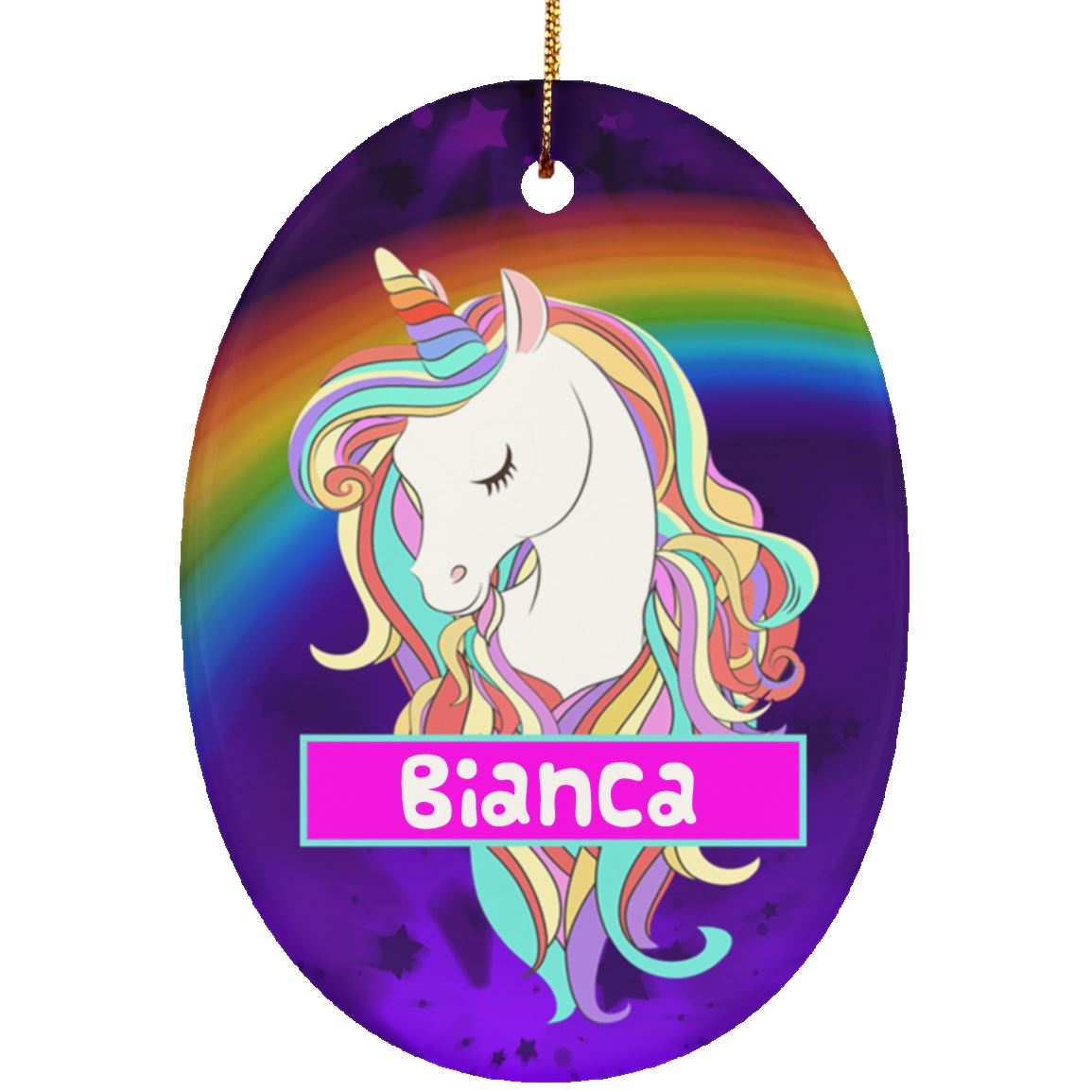Magical Unicorn Personalized Ornament Housewares One Size