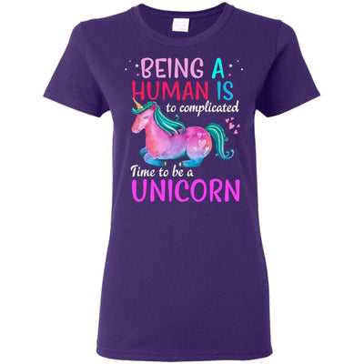 Time To Be A Unicorn Women's T-Shirt Apparel Purple S