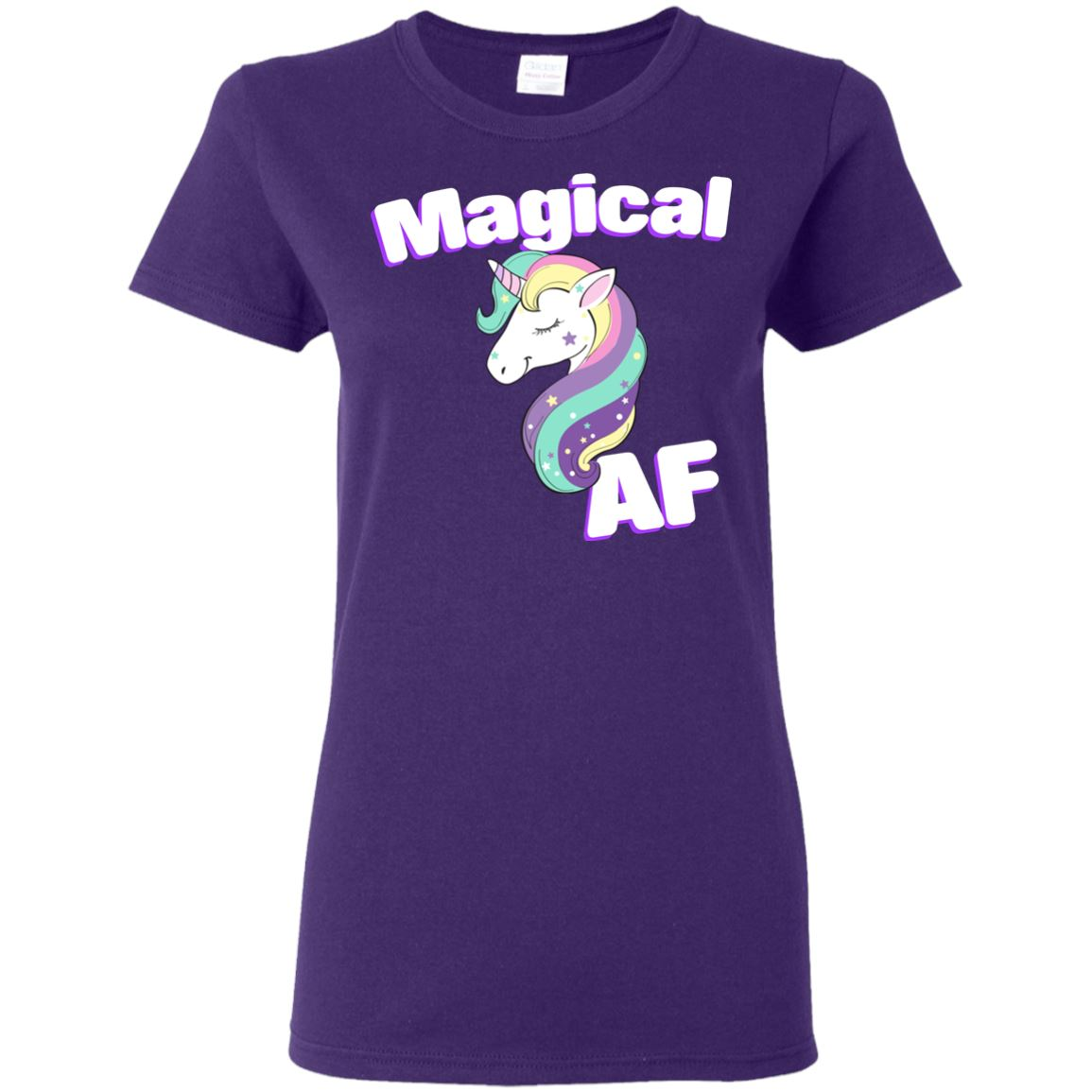 Magical AF Ladies' T-Shirt Apparel Purple S