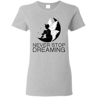 Never Stop Dreaming Fairy T-Shirt T-Shirts Sport Grey S