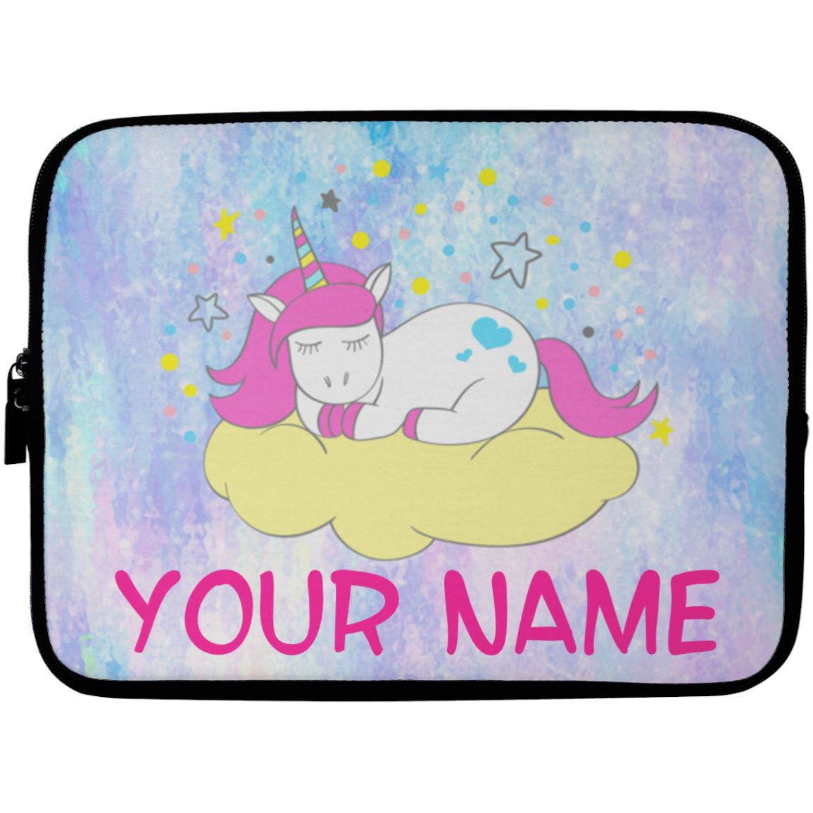 Personalized Sleeping Unicorn Laptop Case Sleeve Accessories 10 inch