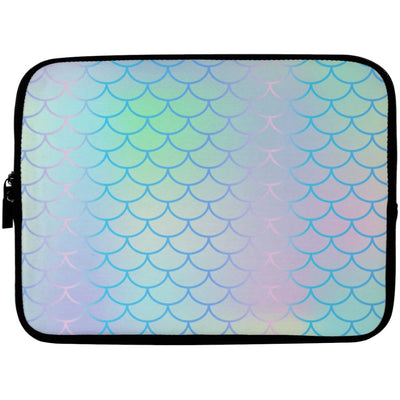 Iridescent Mermaid Laptop Sleeve Apparel Laptop Sleeve - 10 inch White One Size