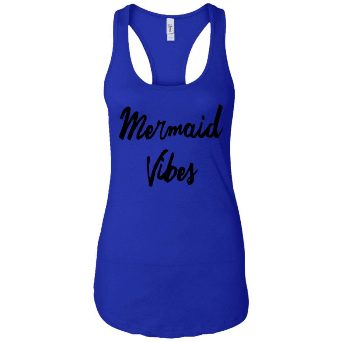 Mermaid Vibes Level Ladies Racerback Tank Mermaid Apparel Royal X-Small