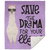 Save Your Drama For Your Llama Premium Sherpa Blanket