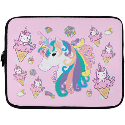 Twinkle Unicorn Laptop Sleeve Case Apparel Laptop Sleeve - 13 inch