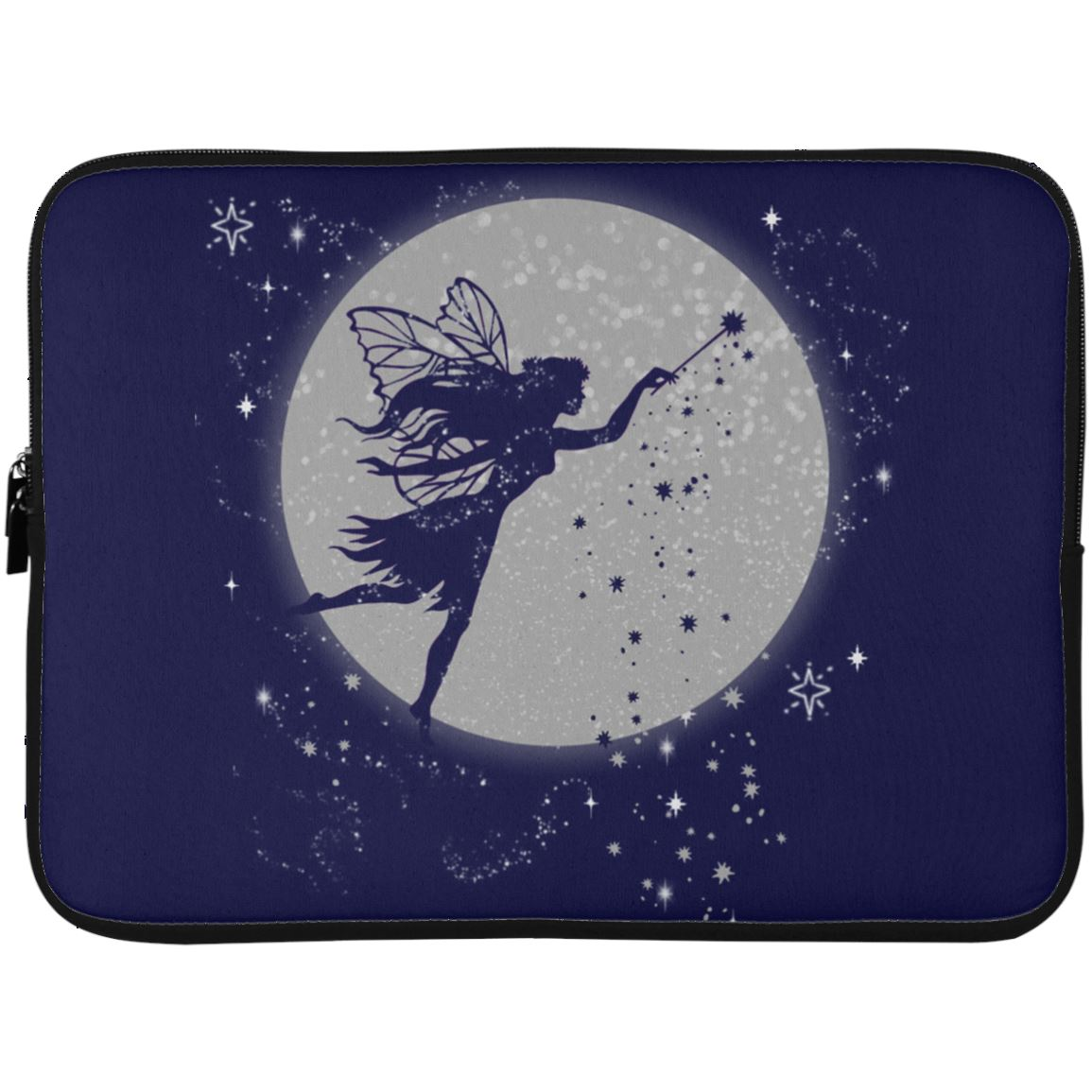 Fairy Moon Laptop Sleeve Apparel Laptop Sleeve - 15 Inch Navy One Size