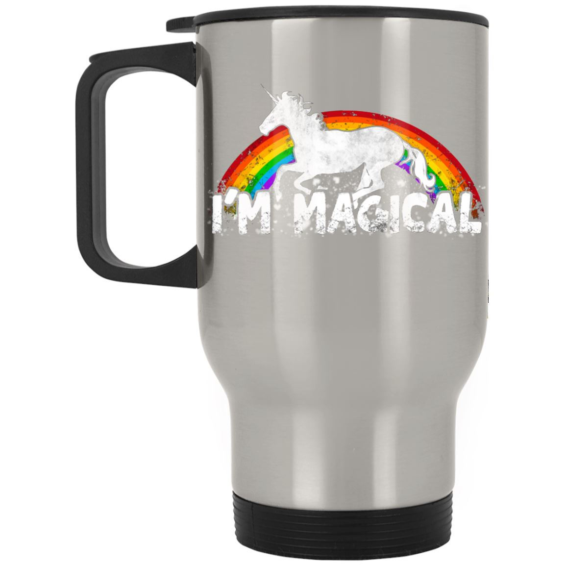 I'm Magical Unicorn Stainless Travel Mug Drinkware Silver One Size