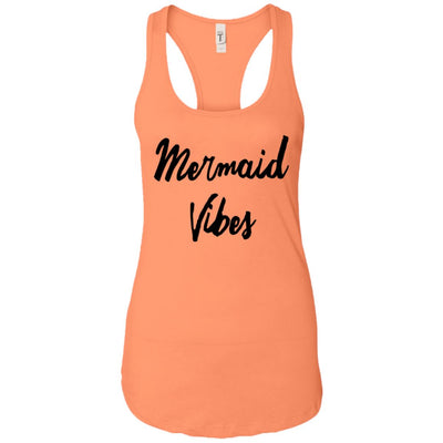 Mermaid Vibes Level Ladies Racerback Tank Mermaid Apparel Light Orange X-Small