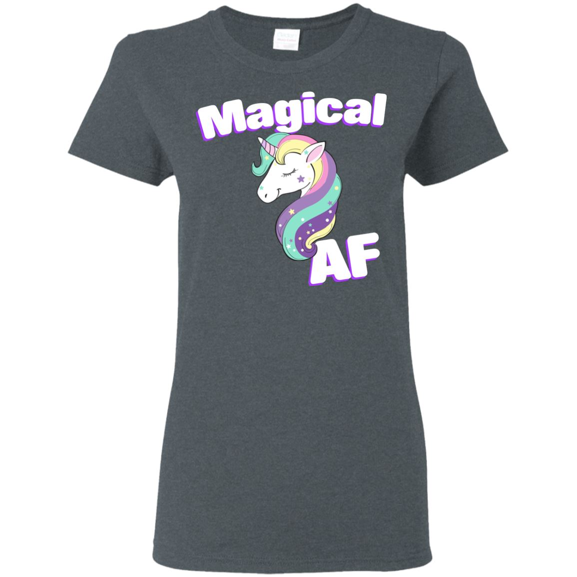 Magical AF Ladies' T-Shirt Apparel Dark Heather S