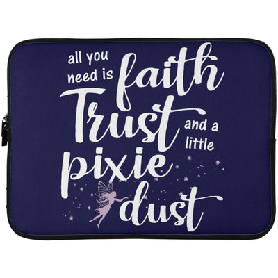 Pixie Dust Fairy Laptop Sleeve Apparel Laptop Sleeve - 15 Inch Navy One Size