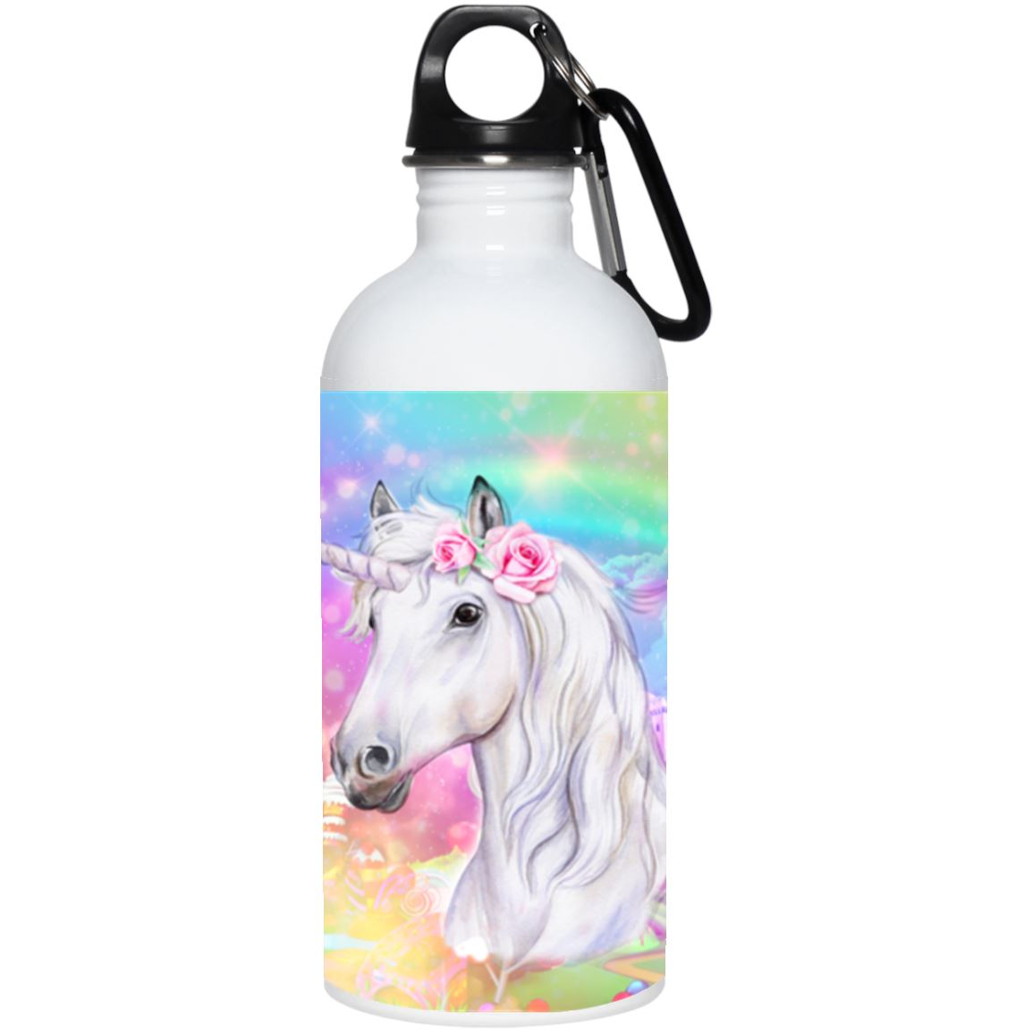 Unicorn Dreamland Stainless Steel Water Bottle Drinkware White One Size