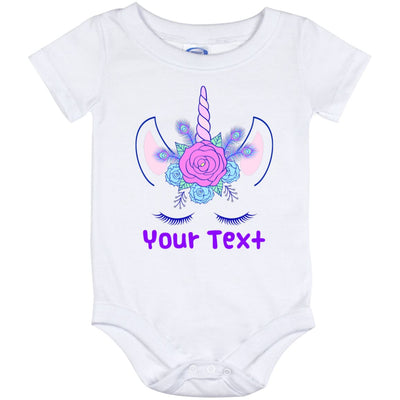 Personalized Unicorn Flowers Baby Onesie Unicorn Baby Items 12 Month