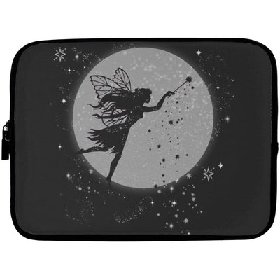Fairy Moon Laptop Sleeve Apparel Laptop Sleeve - 10 inch Black One Size