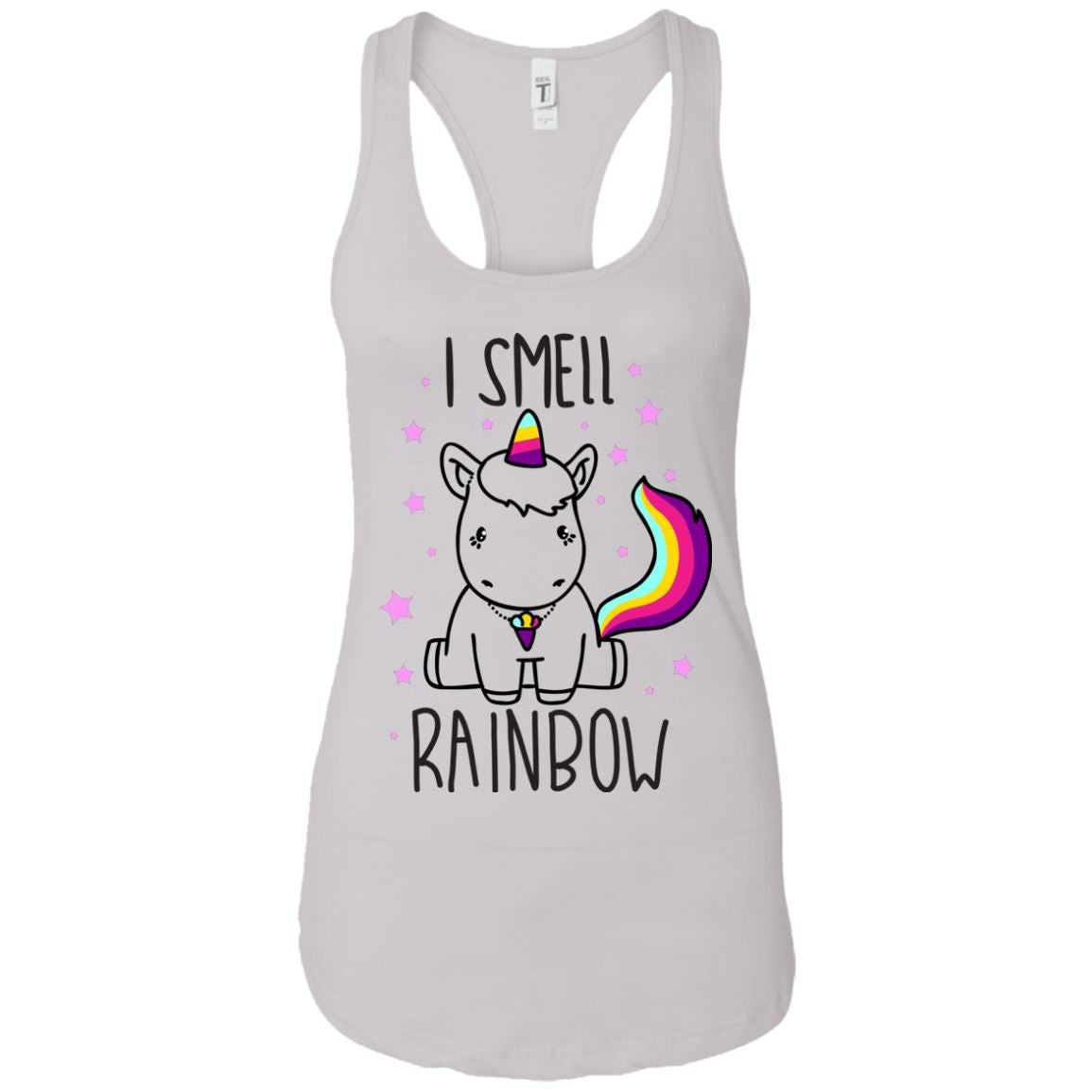 I Smell Rainbow Women's Racerback Tank Apparel White X-Small