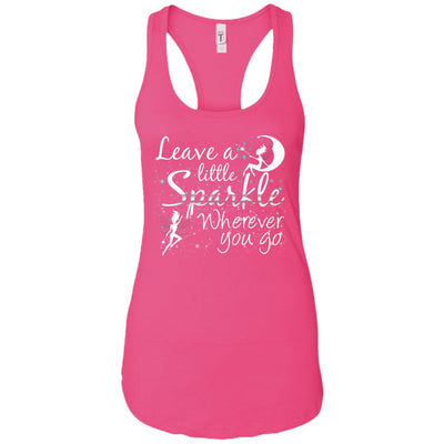 Leave A Little Sparkle Women's Racerback Tank T-Shirts Raspberry X-Small